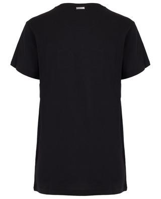 Lässiges Slogan-T-Shirt Black QUANTUM COURAGE
