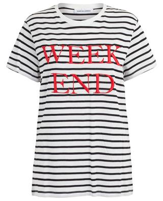 Weekend striped slogan T-shirt QUANTUM COURAGE
