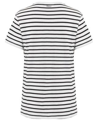 Weekend striped slogan T-shirt QUANTUM COURAGE