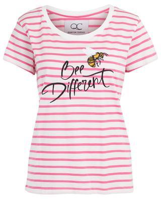Gestreiftes Slogan-T-Shirt Bee Different QUANTUM COURAGE