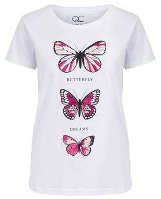 T-shirt brodé à message Butterfly Dreams QUANTUM COURAGE