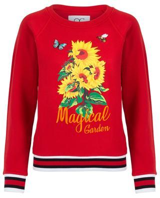 Besticktes Slogan-Sweatshirt Magical Garden QUANTUM COURAGE