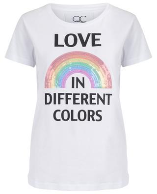 T-shirt brodé de sequins Love Rainbow QUANTUM COURAGE
