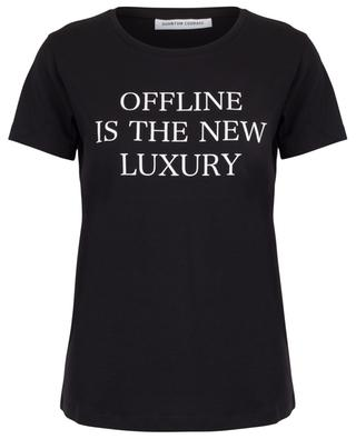 T-shirt à message Offline is the new Luxury QUANTUM COURAGE
