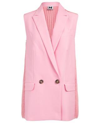 Bimaterial sleeveless jacket M MISSONI