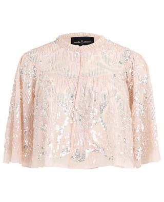 Leichte Jacke aus Tüll und Glitter Floral Gloss NEEDLE &THREAD