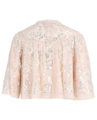 Veste légère en tulle et paillettes Floral Gloss NEEDLE &THREAD