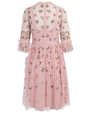 Rococo Disty ruffled floral dress NEEDLE &THREAD