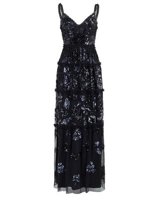 Floral Gloss ruffled embroidered dress NEEDLE &THREAD
