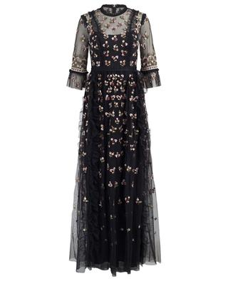 Rococo Ditsy long ruffled floral dress NEEDLE &THREAD