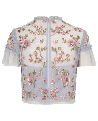 Carnation sequin embroidered top NEEDLE &THREAD