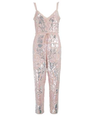 Floral Gloss glittering jumpsuit NEEDLE &THREAD
