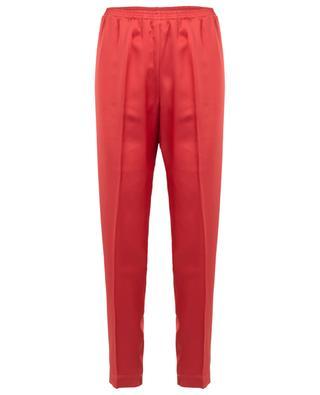 Tapered leg satin trousers FORTE FORTE