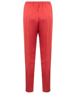 Tapered leg satin trousers FORTE FORTE