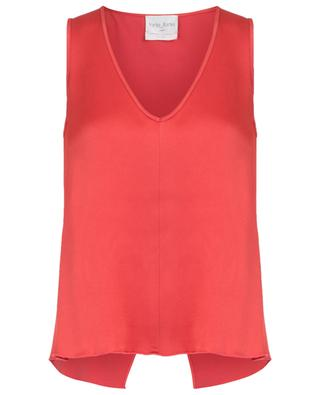Viscose blend sleeveless top FORTE FORTE