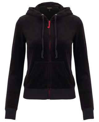 Bestickte Sweatjacke aus Samt Floral Robertson JUICY BY JUICY COUTURE