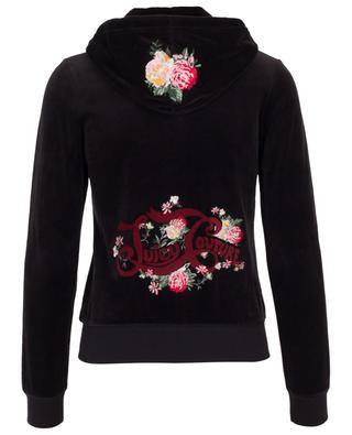 Floral Robertson embroidered velvet track jacket JUICY BY JUICY COUTU