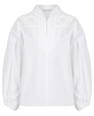Bluse aus Baumwollpopelin mit Laserausschnitten PHILOSOPHY