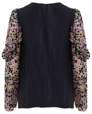 Spotted Flowers burn-out velvet blouse SEE BY CHLOE