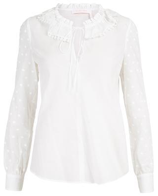 Hemd aus Baumwolle mit besticktem Tupfenprint SEE BY CHLOE
