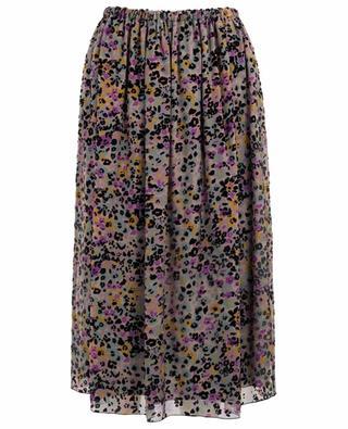Spotted Flowers burn-out velvet midi skirt SEE BY CHLOE