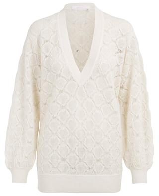 Relaxed V-neck openwork jumper SEE BY CHLOE