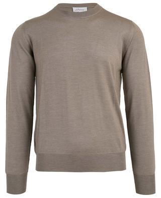 Virgin wool, silk and cashmere blend crew neck jumper BRIONI