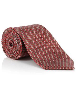 Cravate texturée motif hexagone BRIONI