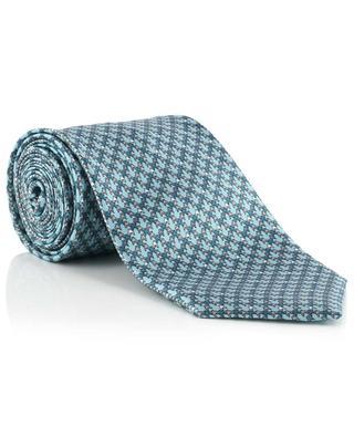 Cravate en soie motif fleur de lys BRIONI