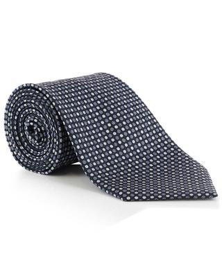 Polka dot printed silk tie BRIONI