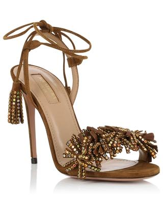 Wild Crystal suede sandals AQUAZZURA