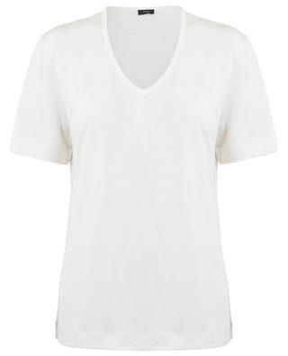 T-Shirt aus Seidenjersey mit V-Ausschnitt JOSEPH