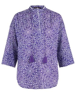 Ethnical print adorned blouse WINDSOR
