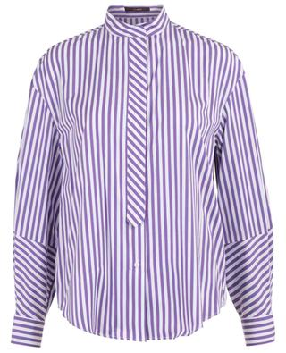 Striped shirt with stand-up collar WINDSOR
