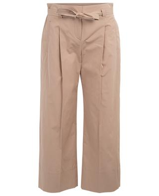 Pantalon large raccourci taille paperbag WINDSOR