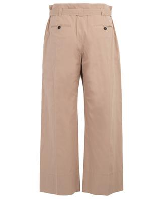 Cropped wide-leg trousers with paperbag waist WINDSOR