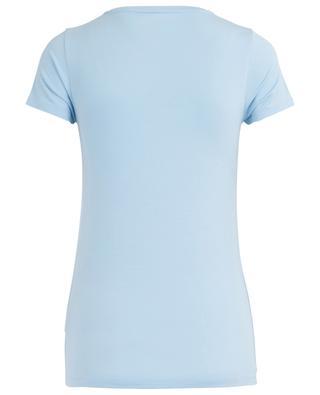 V-neck viscose stretch T-shirt MAJESTIC FILATURES
