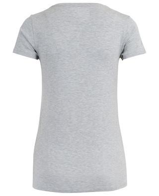 T-Shirt aus Viskose-Stretch mit V-Ausschnitt MAJESTIC FILATURES