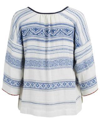 Bluse aus besticktem Jacquard Dady TOUPY