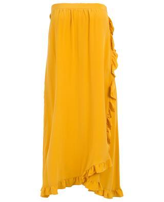 Trägerloses Wickelkleid aus Seide Gerald TOUPY