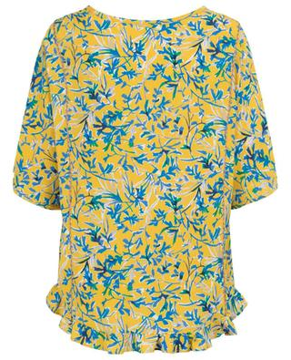 Vol ruffled loose floral top TOUPY