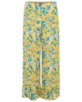 Pantalon large fleuri à volants Volage TOUPY