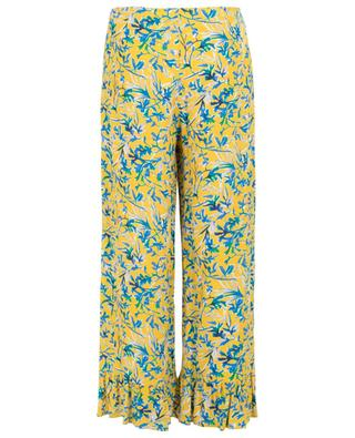 Volage floral ruffled wide-leg trousers TOUPY