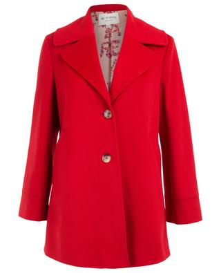 Short wool coat with oversized collar ETRO