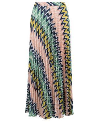 Jupe longue plissée motif zigzag M MISSONI