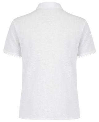 Chemise à manches courtes détail galon MAJESTIC FILATURES
