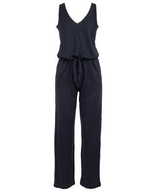 V-neck linen jumpsuit MAJESTIC FILATURES