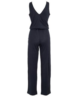 V-neck linen jumpsuit MAJESTIC FILATURES