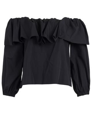 Ruffled off-shoulder blouse THE SHIRT
