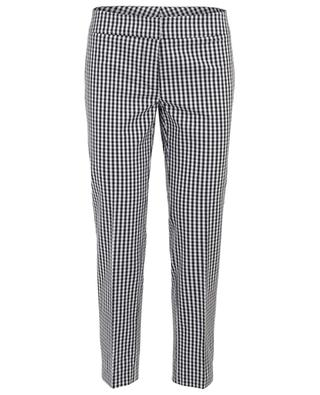 Gingham check straight fit trousers THE SHIRT